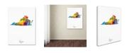 "Trademark Global Michael Tompsett 'Virginia Map' Canvas Art - 24"" x 32"""