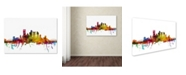 "Trademark Global Michael Tompsett 'Pittsburgh Pennsylvania Skyline' Canvas Art - 26"" x 40"""