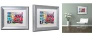 "Trademark Global Richard Wallich 'Old Cars' Matted Framed Art - 11"" x 14"""