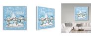 "Trademark Global Jean Plout 'Winter Joy' Canvas Art - 14"" x 14"""