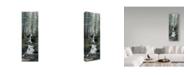 """Trademark Global Jeff Tift 'Cascade Wolves' Canvas Art - 10"""" x 32"""""""