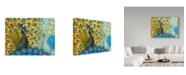 "Trademark Global Maria Rytova 'Peacocks' Canvas Art - 14"" x 19"""