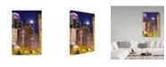 """Trademark Global NjR Photos 'Moonlit Steakhouse' Canvas Art - 12"""" x 19"""""""