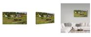"Trademark Global William Breedon 'While The Sun Shines' Canvas Art - 12"" x 24"""