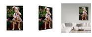 """Trademark Global Sharon Forbes 'Jada' Canvas Art - 12"""" x 19"""""""