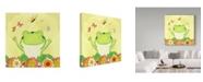"Trademark Global Valarie Wade 'Happiness' Canvas Art - 14"" x 14"""