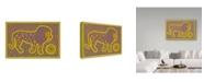 "Trademark Global Willow Bascom 'Leo' Canvas Art - 12"" x 19"""