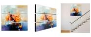 """Trademark Global Zavaleta 'Abstract III' 3-Panel Art Set - 32"""" x 10"""""""