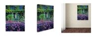 "Trademark Global Kathy Yates 'Monet's House With Tulips' Canvas Art - 14"" x 19"""