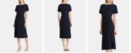 Lauren Ralph Lauren Self-Tie Flutter-Sleeve Jersey Dress