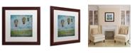 "Trademark Global Nicole Dietz 'Up and Away' Matted Framed Art - 16"" x 16"""