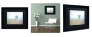 """Trademark Global Preston 'Florida Beach Chair 2' Matted Framed Art - 11"""" x 14"""""""