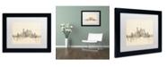 "Trademark Global Michael Tompsett 'Pittsburgh Skyline Sheet Music II' Matted Framed Art - 11"" x 14"""