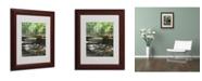 "Trademark Global Monica Fleet 'Amicable Escape' Matted Framed Art - 14"" x 11"""