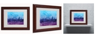 """Trademark Global Michael Tompsett 'London England Skyline IV' Matted Framed Art - 14"""" x 11"""""""