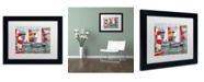 """Trademark Global Michelle Calkins 'After the Regatta' Matted Framed Art - 14"""" x 11"""""""