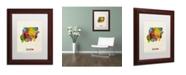 "Trademark Global Michael Tompsett 'Sudan Watercolor Map' Matted Framed Art - 11"" x 14"""