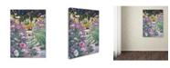 "Trademark Global David Lloyd Glover 'Garden Path of Cosmos' Canvas Art - 14"" x 19"""