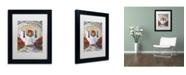 "Trademark Global David Lloyd Glover 'Poinsettia House' Matted Framed Art - 11"" x 14"""