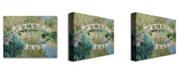 "Trademark Global Claude Monet 'The Japanese Bridge, Giverny' Canvas Art - 47"" x 35"""