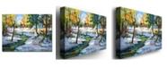 "Trademark Global David Lloyd Glover 'Early Snowfall' Canvas Art - 24"" x 18"""