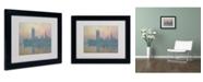 "Trademark Global Claude Monet 'The Houses of Parliament' Matted Framed Art - 14"" x 11"""
