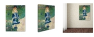 """Trademark Global Pierre Auguste Renoir 'A Girl With a Watering Can' Canvas Art - 32"""" x 24"""""""
