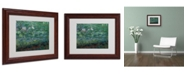 "Trademark Global Claude Monet 'The Waterlily Pond Green' Matted Framed Art - 14"" x 11"""