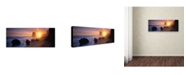 "Trademark Global David Evans 'Apostles from the Beach' Canvas Art - 19"" x 6"""