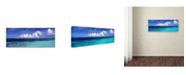 "Trademark Global David Evans 'Blue Lagoon-Maldives' Canvas Art - 6"" x 19"""