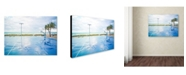"Trademark Global Preston 'Basketball by the Beach' Canvas Art - 35"" x 47"""
