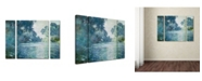 "Trademark Global Claude Monet 'Branch of the Seine' Multi Panel Art Set Small - 24"" x 32"""