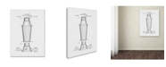 "Trademark Global Claire Doherty 'Cocktail Shaker Patent 1884 White' Canvas Art - 35"" x 47"""