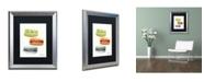 "Trademark Global Jennifer Redstreake '3 Macarons No Words' Matted Framed Art - 16"" x 20"""
