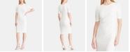 Lauren Ralph Lauren Button-Shoulder Crepe Dress