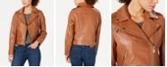 Michael Kors Asymmetrical Leather Moto Jacket
