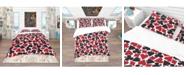 Design Art Designart 'Card Suit Pattern' Modern and Contemporary Duvet Cover Set - Twin