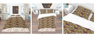 Design Art Designart 'Floral Pattern, Paisley Garden Style' Bohemian and Eclectic Duvet Cover Set - Twin