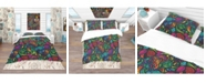 Design Art Designart 'Mosaic Pattern With Flowers' Bohemian and Eclectic Duvet Cover Set - Twin