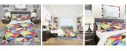 Design Art Designart 'Bright Triangle' Modern Duvet Cover Set - Twin
