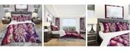 Design Art Designart 'Lavender Floral Pyramid' Modern and Contemporary Duvet Cover Set - Queen