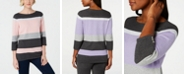 Karen Scott Petite Cotton Striped Sweater, Created for Macy's