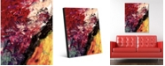 """Creative Gallery Cherry Pigments Abstract Portrait Metal Wall Art Print - 24"""" x 36"""""""