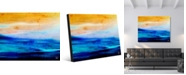 """Creative Gallery Land of Sunset and Darkness Abstract Portrait Metal Wall Art Print - 20"""" x 24"""""""