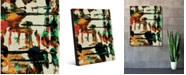 "Creative Gallery Tsuana Abstract Portrait Metal Wall Art Print - 20"" x 24"""