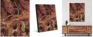 "Creative Gallery Danza Giallo Delta Abstract Portrait Metal Wall Art Print - 16"" x 20"""