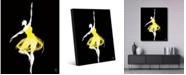 "Creative Gallery Canary Ballerina Portrait Metal Wall Art Print - 16"" x 20"""