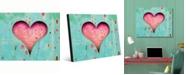 "Creative Gallery Timeless Rustic Heart Portrait Metal Wall Art Print - 20"" x 24"""