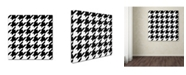 "Trademark Global Color Bakery 'Xmas Houndstooth 6' Canvas Art - 18"" x 18"""