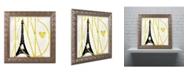 """Trademark Global Color Bakery 'I Love Paris' Ornate Framed Art - 11"""" x 11"""""""